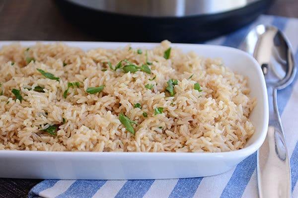 InstantPot Brown Rice Pilaf
