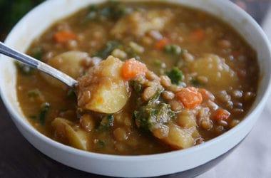 Pressure Cooker Smoky Lentil Soup