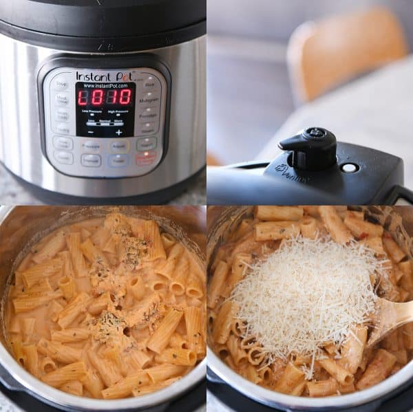 How to: Instant Pot timer, releasing pressure, stirring ziti.