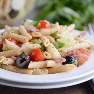 Simple Italian Salami and Mozzarella Pasta Salad