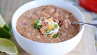 Slow Cooker Jalapeno Popper White Bean Chili