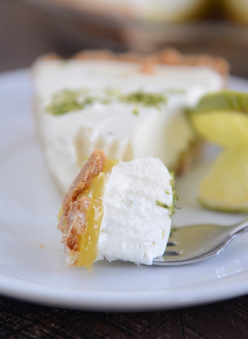 ... lime flavor, you really need to be a lime lover to appreciate this pie