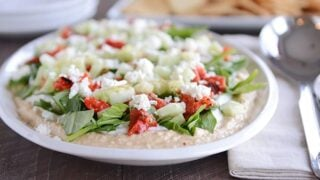 Easy 7-Layer Greek Hummus Dip