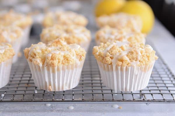 Lemon Cream Cheese Crumb Muffins