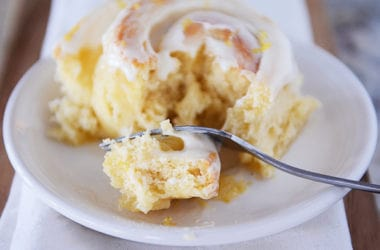 Lemon Sticky Buns with Lemony Cream Cheese Glaze