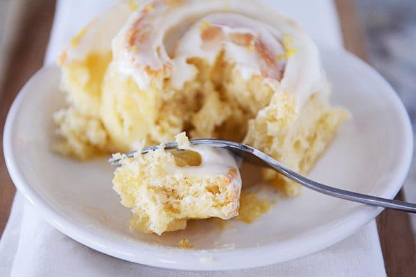 Lemon Sticky Buns with Lemony Cream Cheese Glaze