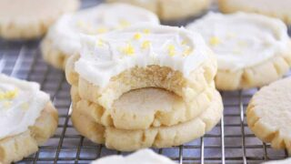 "Lemon ""Swig"" Sugar Cookies with Lemon Frosting"