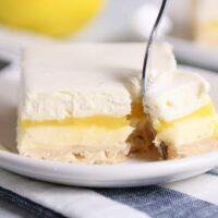 Lemon Truffle Shortbread Bars