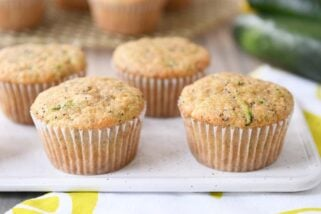 Lemon Poppy Seed Zucchini Muffins {Whole Grain}