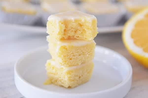 Lemony Lemon Brownie Bites