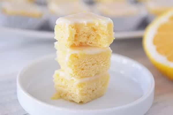 Lemony Lemon Brownie Bites