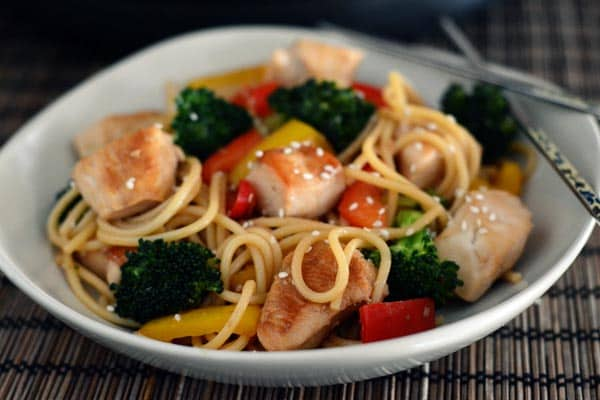 Stir-Fried Chicken and Vegetable Lo Mein