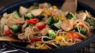 Stir-Fried Chicken and Vegetable Lo Mein