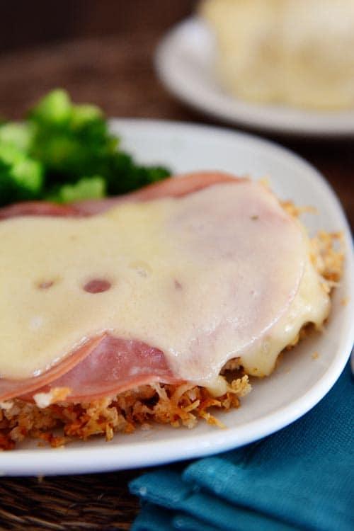 Ham and Swiss Baked Malibu Chicken