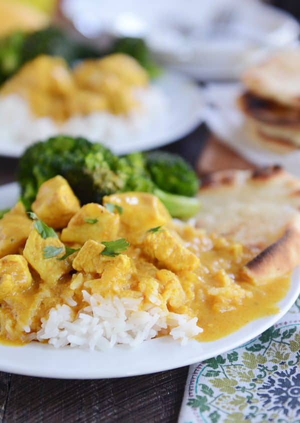 Thai Mango Red Curry With Chicken And Coconut Rice Mels