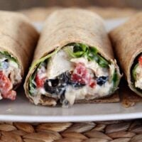 Mediterranean Chicken Wraps