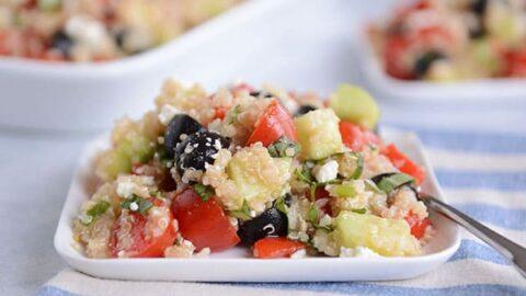 Mediterranean Quinoa Salad Recipe Mel S Kitchen Cafe