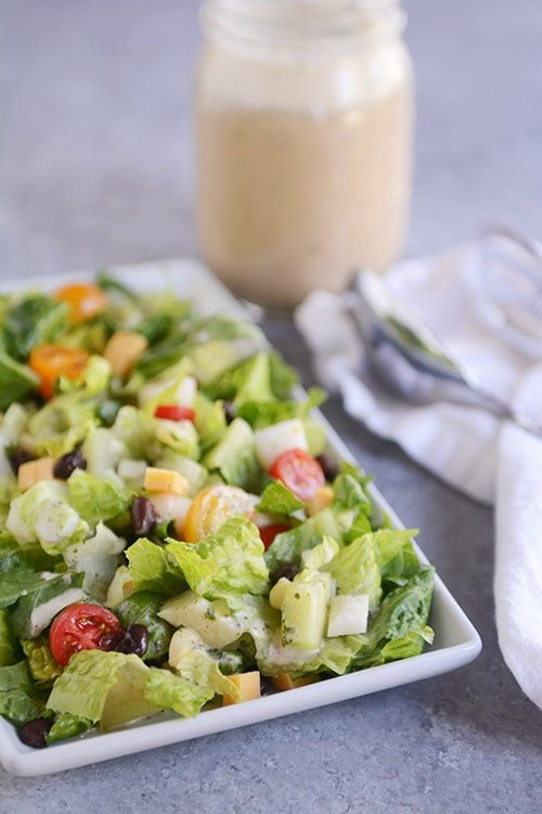 Mexican Chopped Salad with Cilantro Lime Vinaigrette