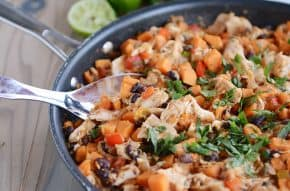 Cheesy Mexican Sweet Potato Skillet Meal