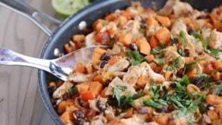 Cheesy Mexican Chicken Sweet Potato Skillet Meal