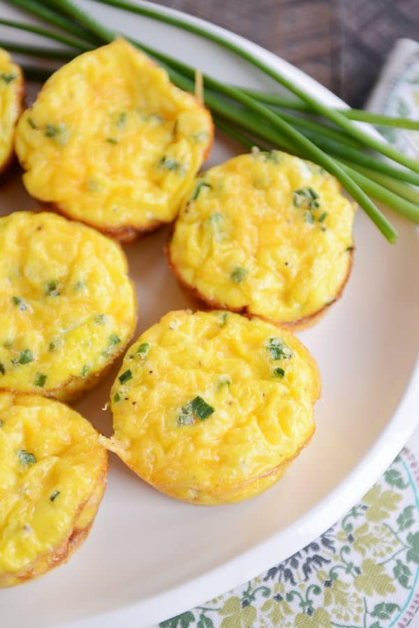 Mini quiche recipe on white platter
