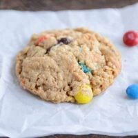 One-Bowl Monster M&M Cookies