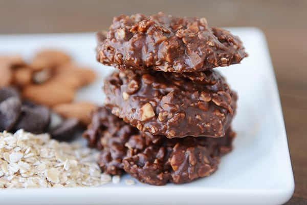Healthier Chocolate No-Bake Cookies