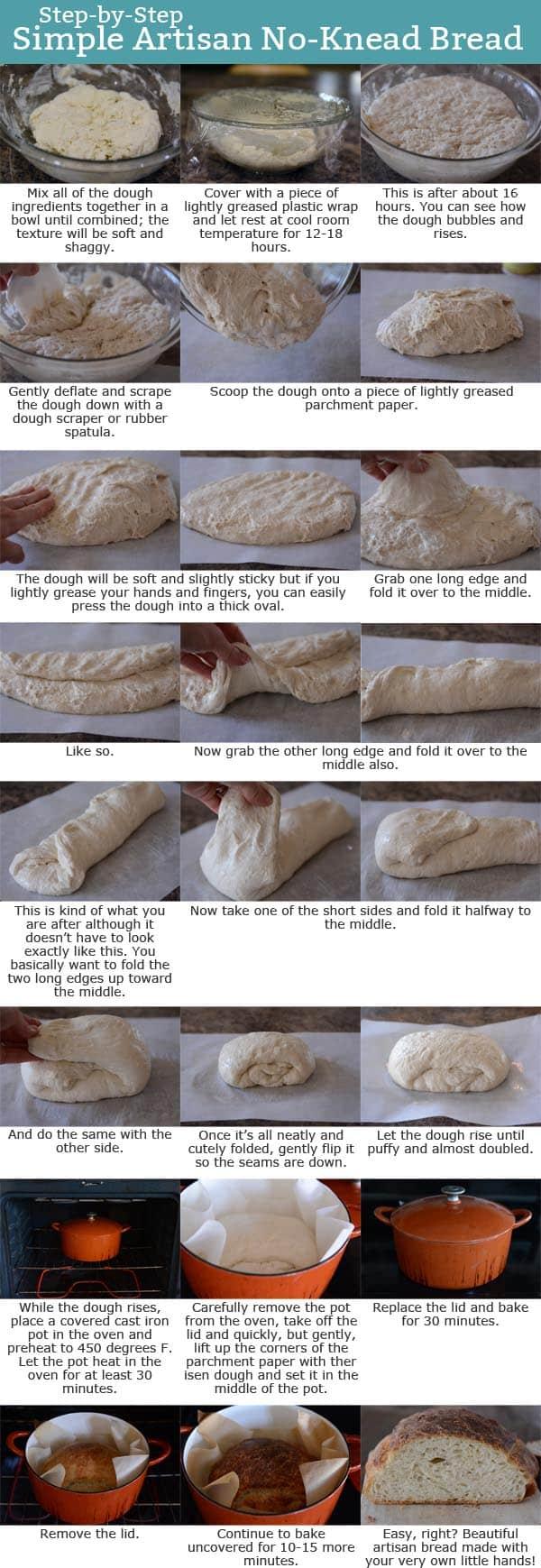 Simple No-Knead Artisan Bread