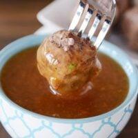 Baked Orange Glazed Meatballs