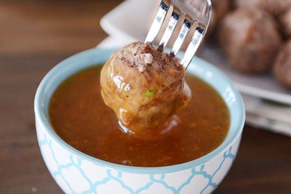 Orange Glazed Meatballs