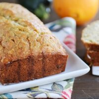Glazed Orange Zucchini Bread