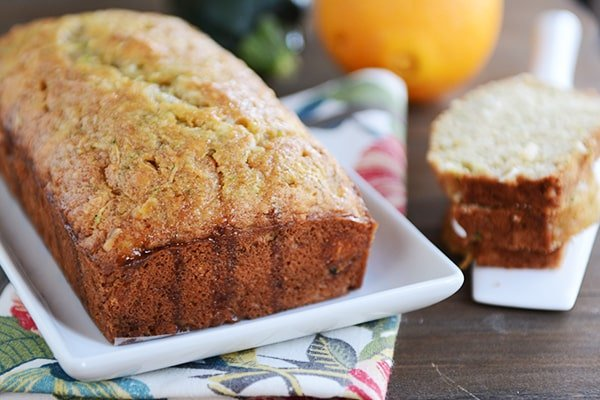 Glazed Orange Zucchini Bread