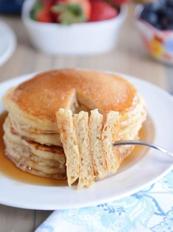 Fluffy Buttermilk Overnight Pancakes