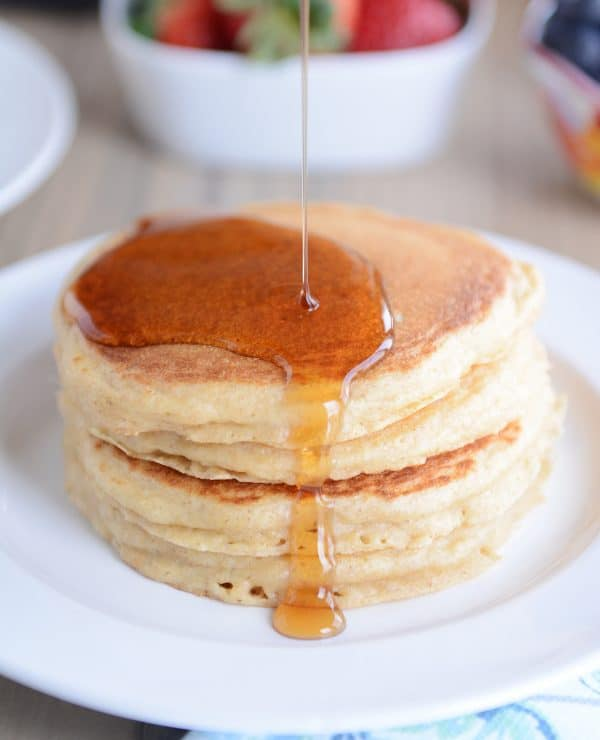 Fluffy buttermilk overnight pancakes recipe mels kitchen cafe fluffy buttermilk overnight pancakes ccuart Images