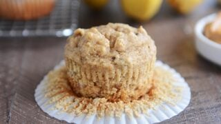 Whole Grain Peanut Butter and Honey Banana Muffins