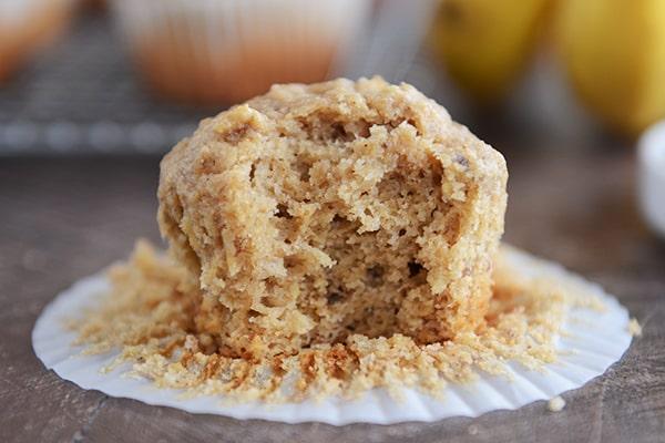 Whole Wheat Peanut Butter Banana Muffins