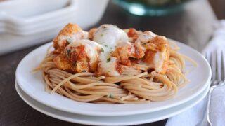 Pesto and Marinara Mozzarella Chicken Bake