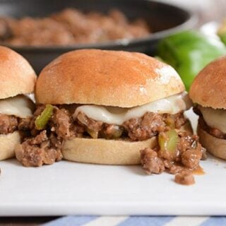 Easy, cheesy, delicious - these philly cheesesteak sloppy joes are the perfect 30-minute meal!