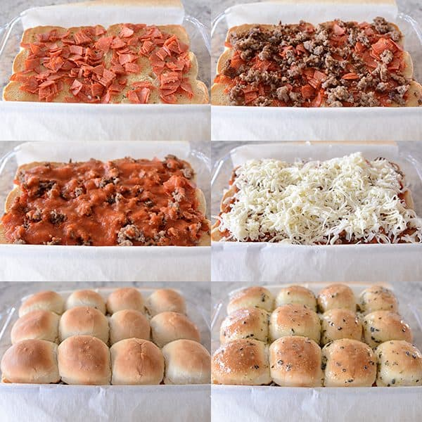 Pull Apart Pizza Sliders {Sandwiches}