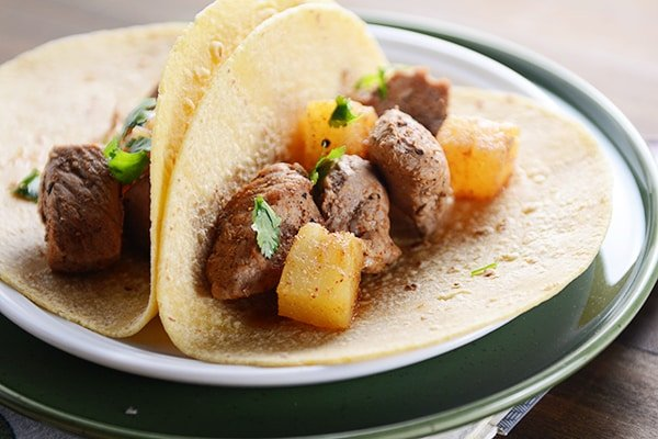 Sweet and Spicy Pork and Pineapple Tacos