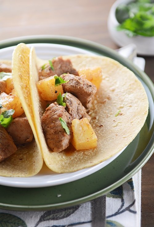Sweet and Spicy Pork and Pineapple Tacos | Mel's Kitchen Cafe