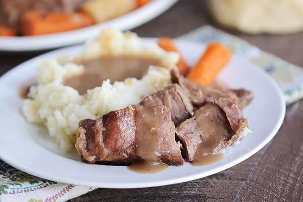 Perfect Pot Roast {Slow Cooker}