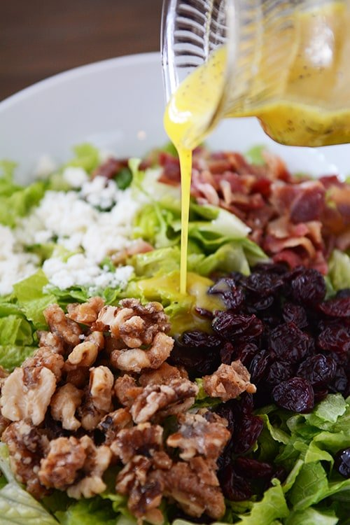 Best Romaine Salad with Sweet Mustard Vinaigrette