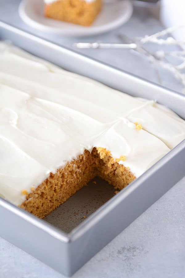 The Best Pumpkin Bars with Whipped Cream Cheese Frosting