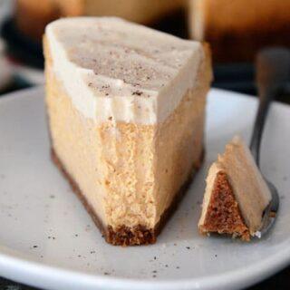 Pumpkin White Chocolate Mousse Cheesecake