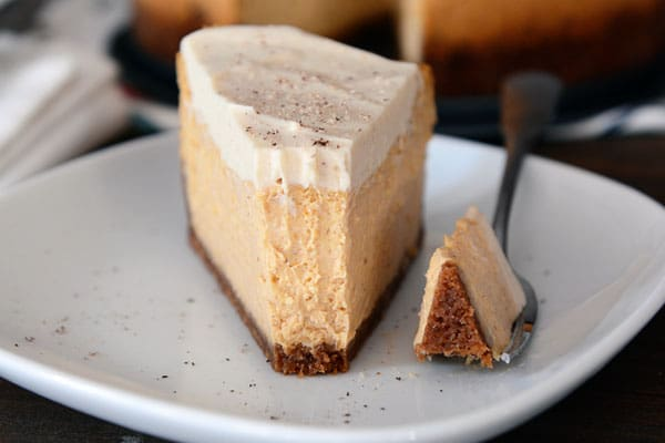 Pumpkin White Chocolate Mousse Cheesecake {Egg-Free}