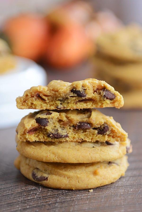 Perfect Chocolate Chip Pumpkin Cookies