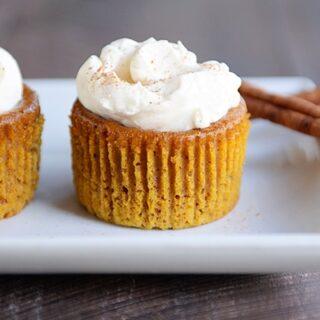 Crustless Pumpkin Pie Cupcakes