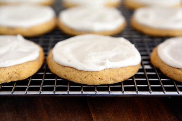 Soft Batch Glazed Pumpkin Sugar Cookies