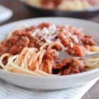 Quick Weeknight Homemade Spaghetti Sauce